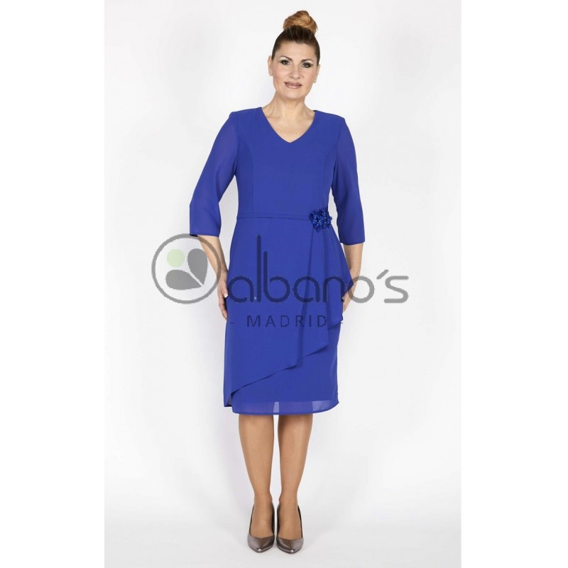 VESTIDO WENDY APLIQUE LATERAL REF. 21010-4