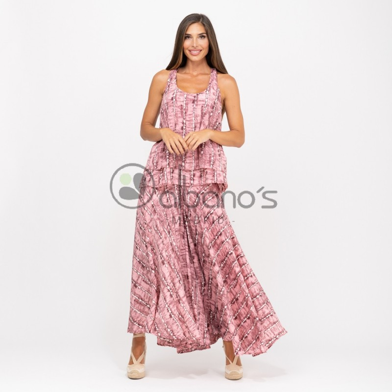 SET SILK SKIRT PANTS WITH TOP TAY-DAY REF. 6838-9