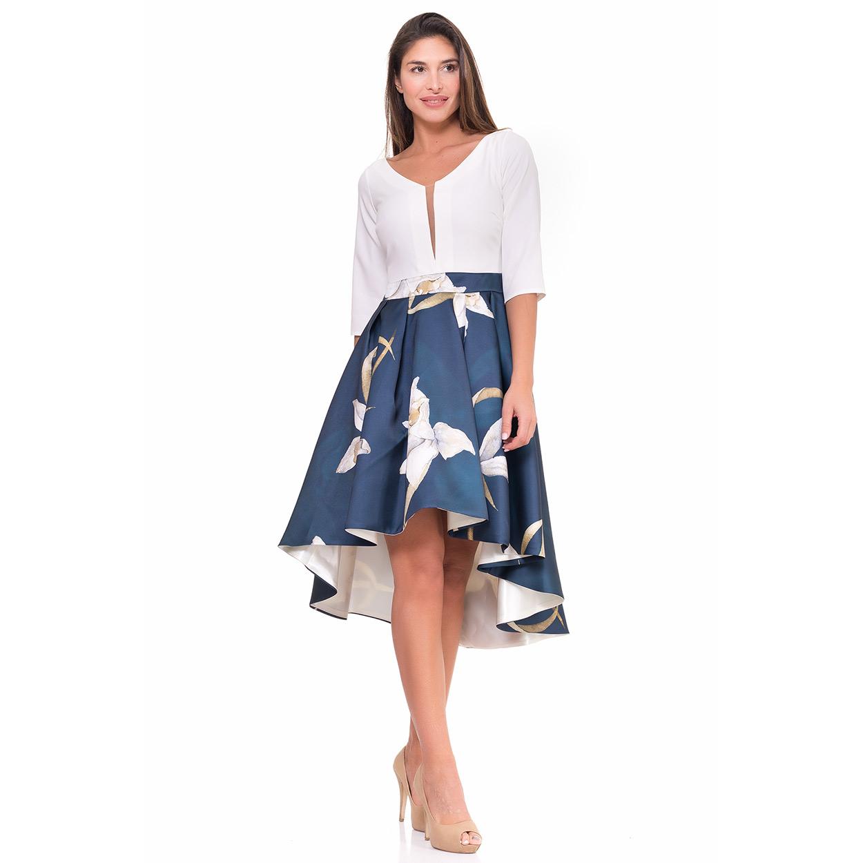 Vestido azul midi